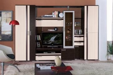купить модульную стенку в гостиную в москве